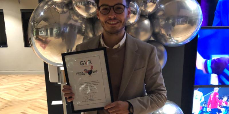 Brahim Zarouali Receives 'Jonge Haan' Award 2021